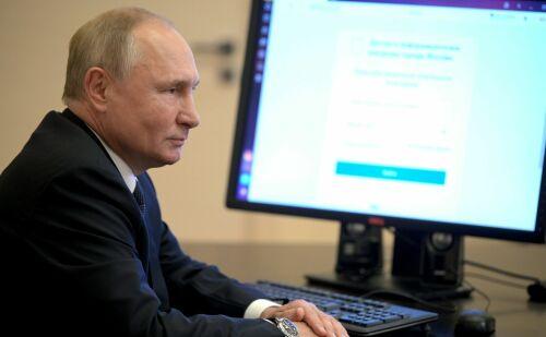 Путин и Мишустин проголосовали онлайн